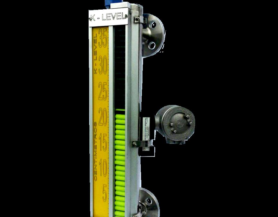 Visor Magnético de Nivel K-LEVEL opciòn transmisor y switch
